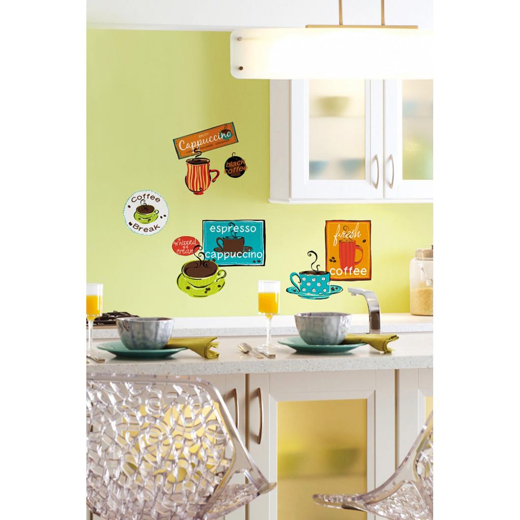 RoomMates Wandsticker Wandbild Kaffeepause Küche