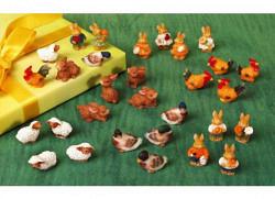 Mini Oster-Tiere Henne im 5er Set