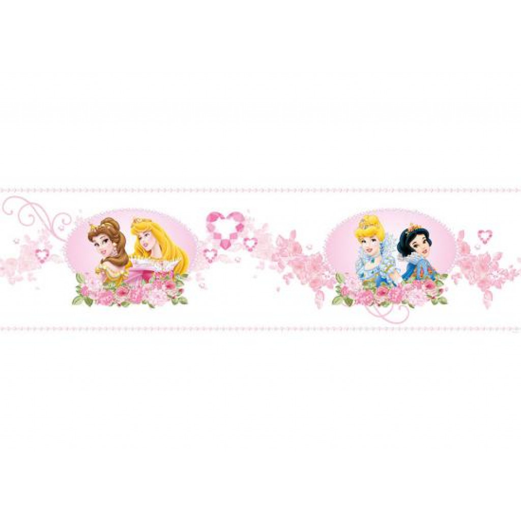 Kinderzimmer Tapeten Prinzessin : Kinderzimmer Bord?re Disney Princess Prinzessin Juwelengarten Tapeten