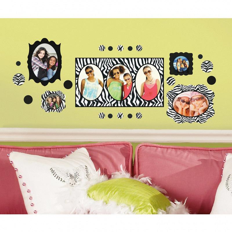 RoomMates Wandsticker Zebrastreifen Fotorahmen