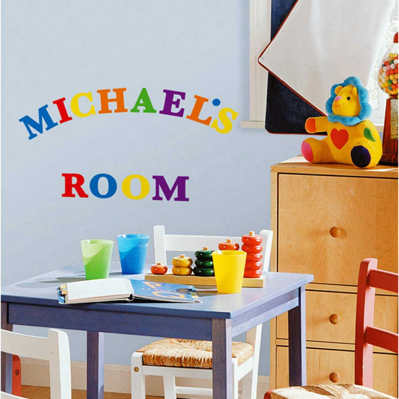 RoomMates Wandsticker buntes Alphabet