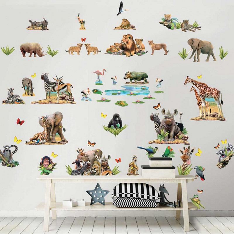 Wandsticker Dschungeltiere Afrika Safari