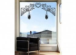 Wandtattoo Fenstersticker Wandkonsole Blumentopf