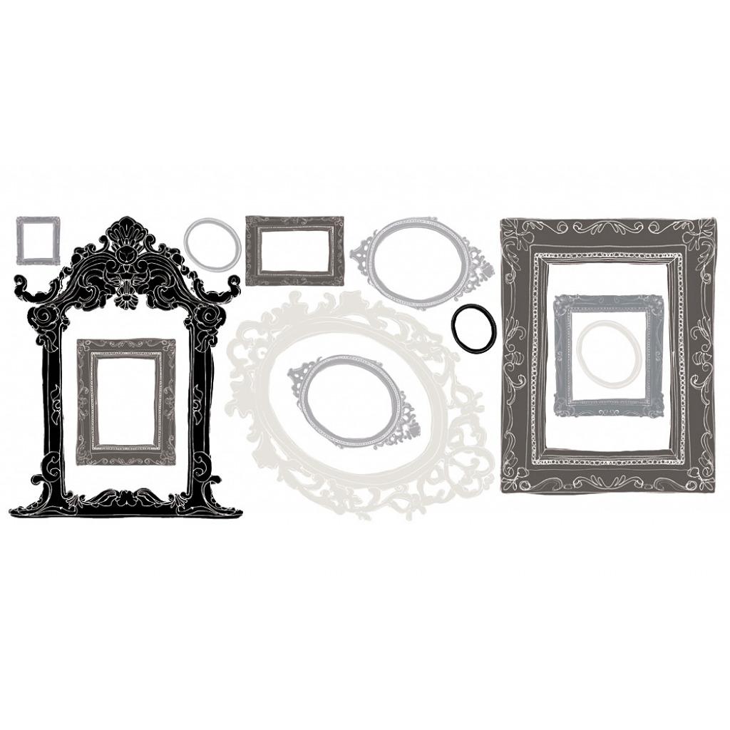 wandsticker wandtattoo bilderrahmen metallic silber. Black Bedroom Furniture Sets. Home Design Ideas