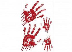 RoomMates Wandaufkleber Blutiger Handabdruck