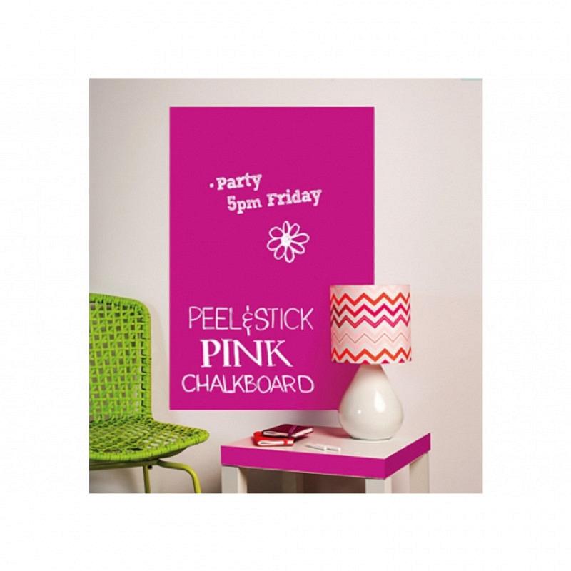 Kreidetafel Tafelfolie groß pink