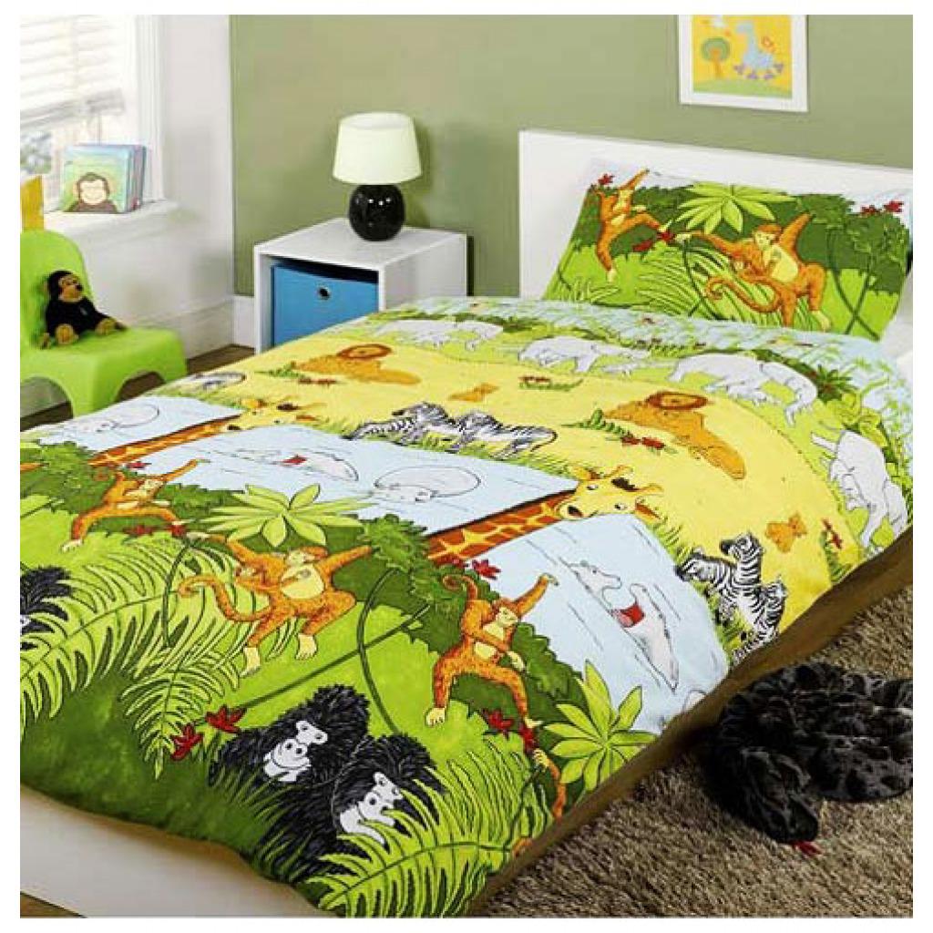 Bettw Sche Dschungel Safari Bettgarnitur Dschungeltiere
