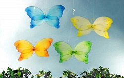 Schmetterlinge aus Nylon in grün