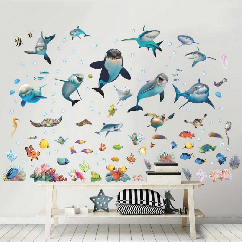 Wandsticker Meerestiere Fische Unterwasser