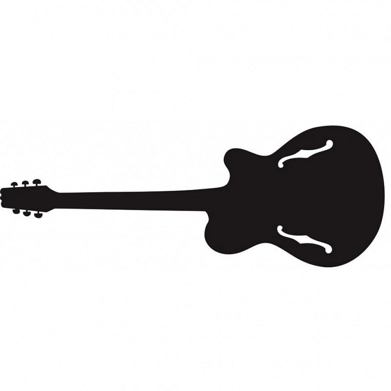 RoomMates Wandtattoo Kreidetafel Rockgitarre