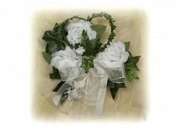 Tischdeko Hochzeitsdekoration Herz in weiß