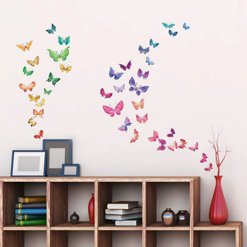 Wandsticker Schmetterlinge Wasserfarben