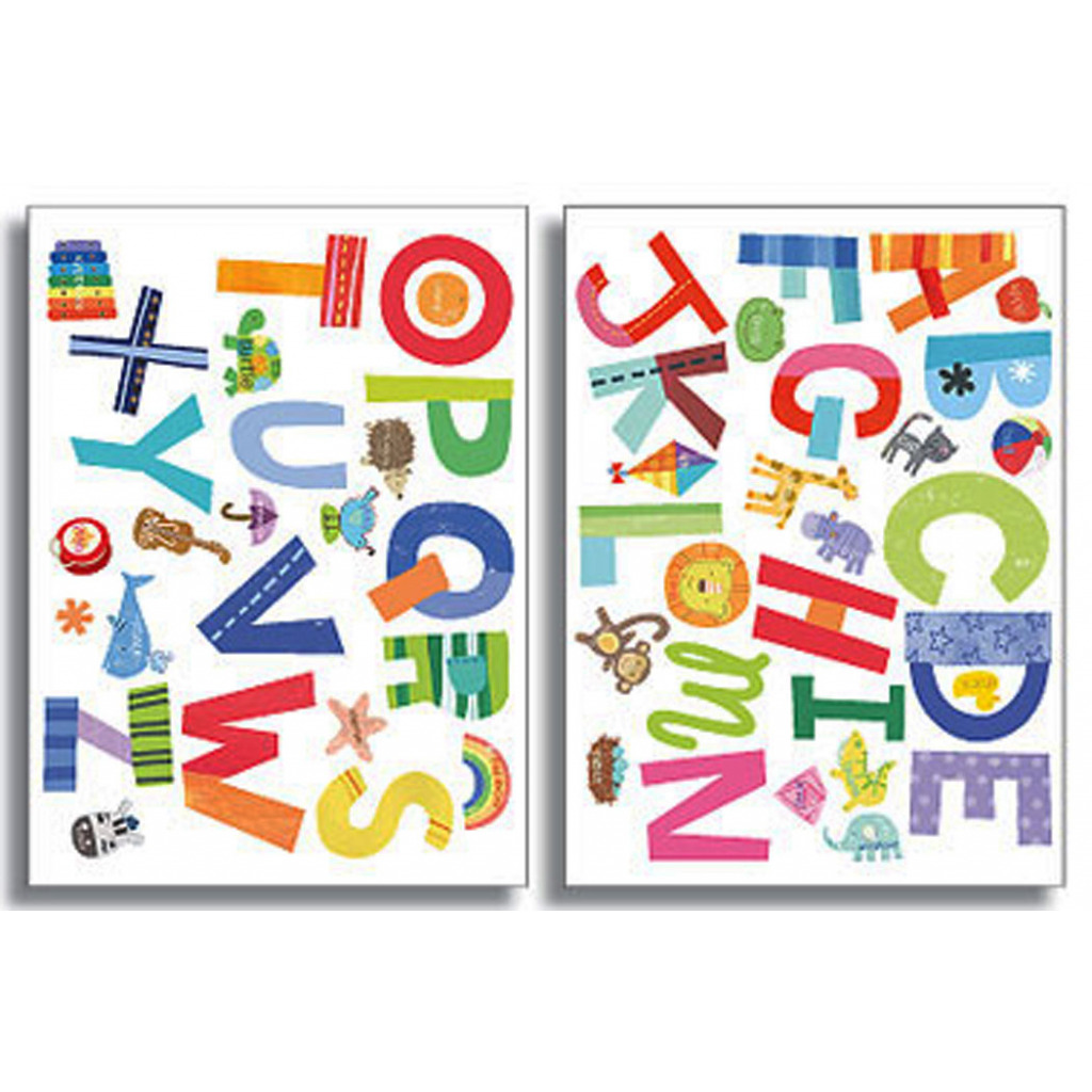 Wallies Wandsticker lustiges Alphabet