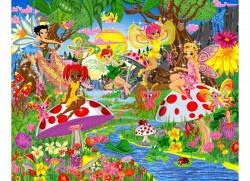 Fototapete Kinderzimmer Elfen Magical Fairies