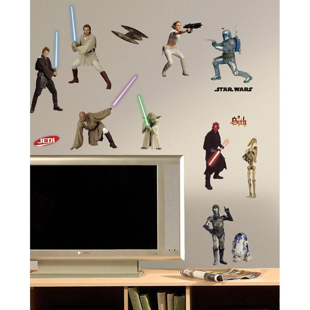 roommates wandtattoo star wars episode 1 3 star wars. Black Bedroom Furniture Sets. Home Design Ideas