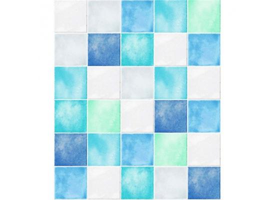 Wandtapete Dekofolie Fliesenspiegel blau