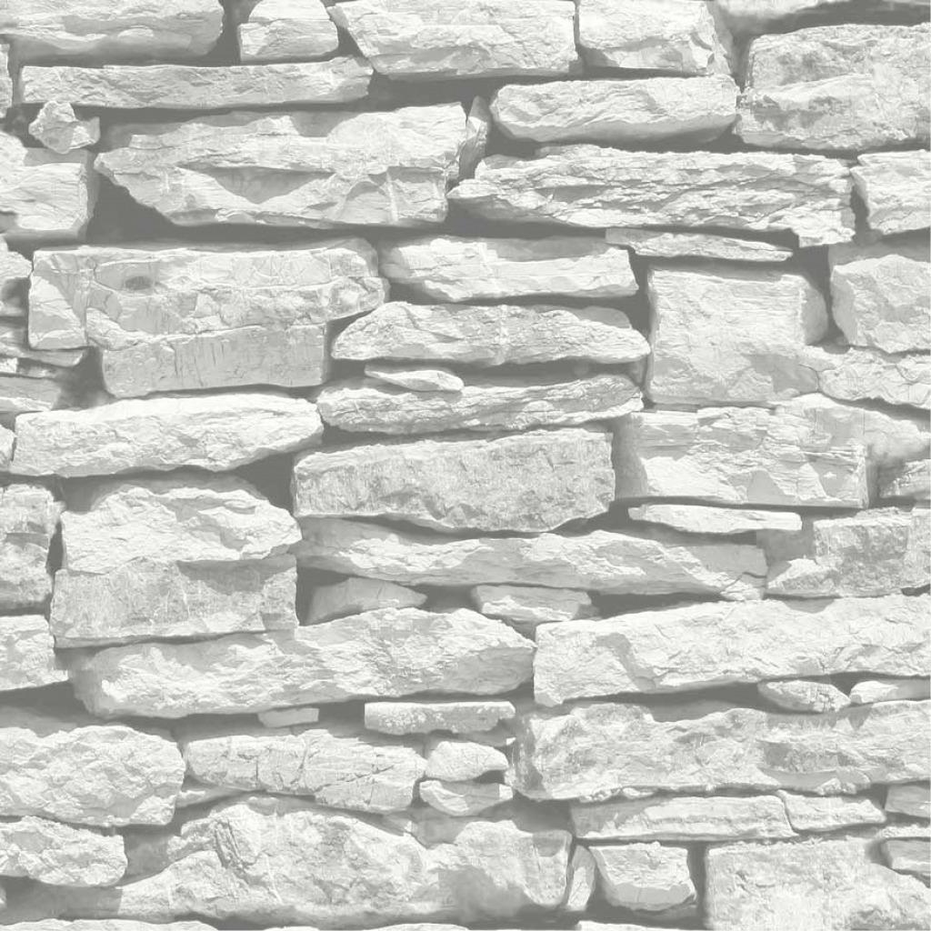 Tapete marokkanische Mauer weiß grauer Schiefer-Tapeten
