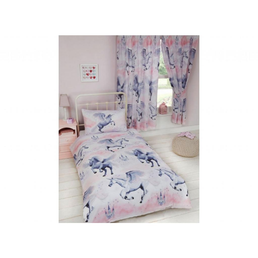 kinderzimmer gardine einhorn sternenstaub vorhang set. Black Bedroom Furniture Sets. Home Design Ideas