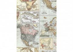Tapete antike Landkarte
