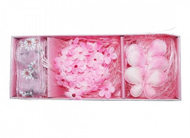 Tischdeko Set in rosa im 2er Set