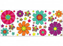 Wandsticker Retro Flower Blumenwelt