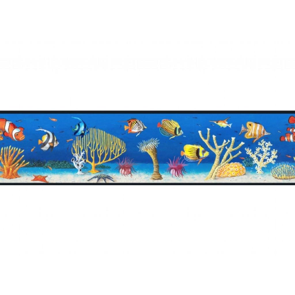 bord re fische meereswelt unterwasserwelt bad fliesen tapeten borte ebay. Black Bedroom Furniture Sets. Home Design Ideas