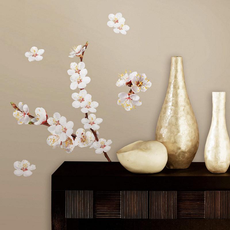 Wandtattoo Wandsticker Hartriegel Strauch Blüten