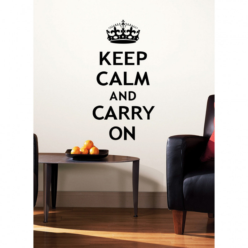 RoomMates Wandsticker Keep Calm and Carry On
