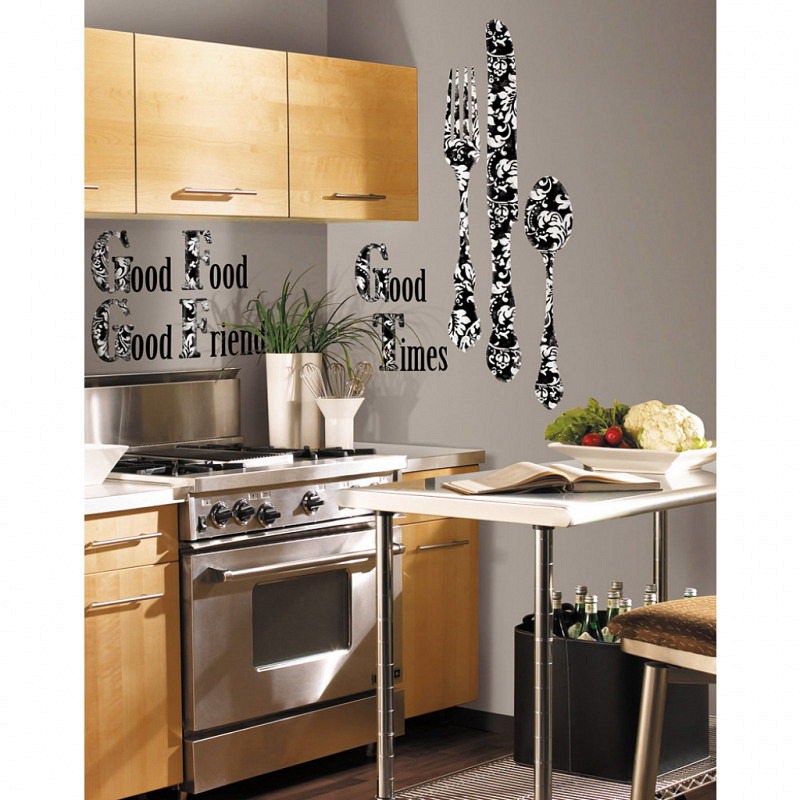 RoomMates Wandsticker Good Times Silberbesteck