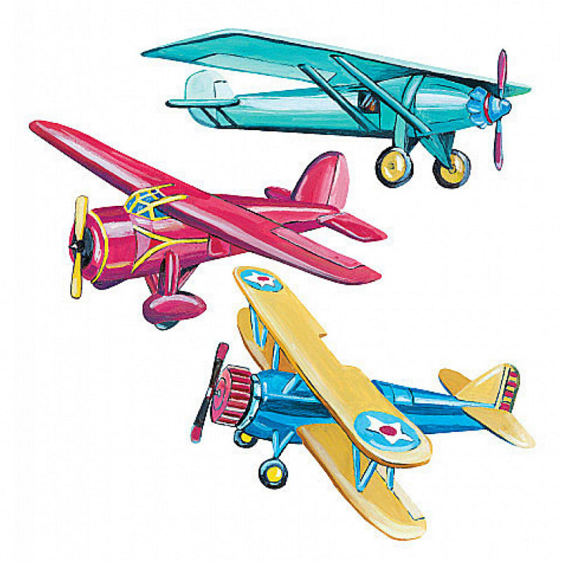 Wandsticker Wandtattoo Wallies Flugzeuge