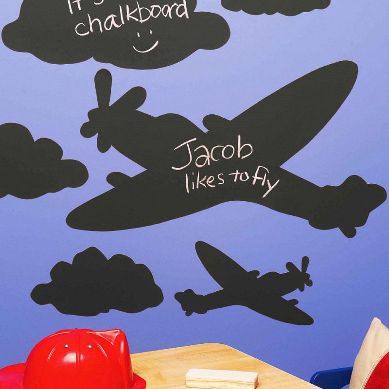 Kreidetafel Sticker Flugzeuge Wolken
