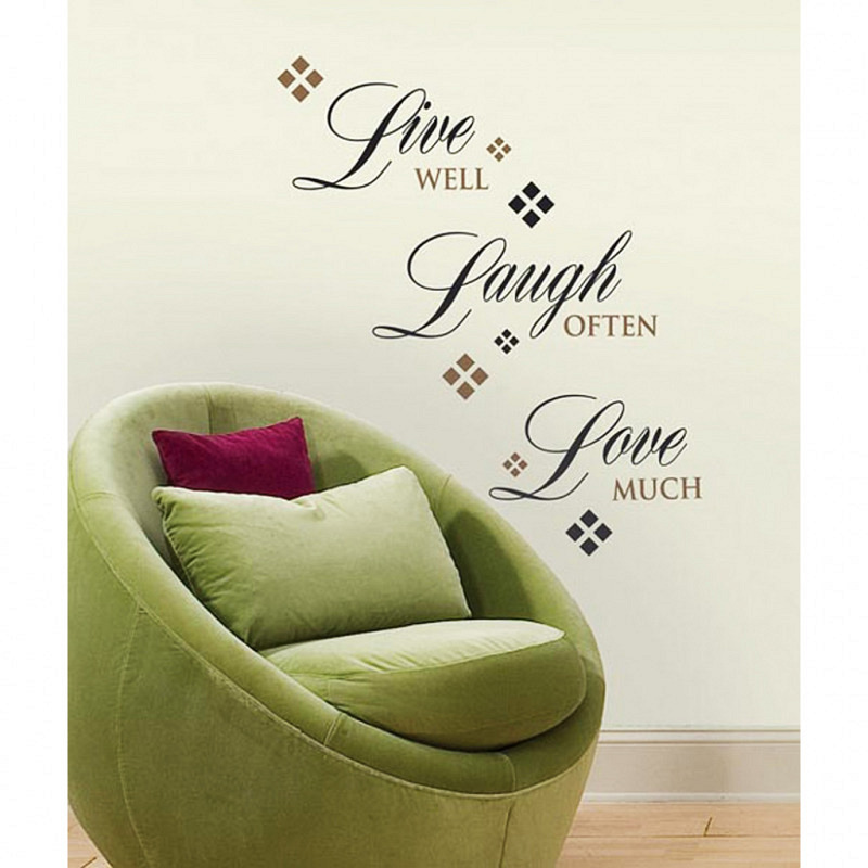 RoomMates Wandsticker Wandtattoo Live Laugh Love