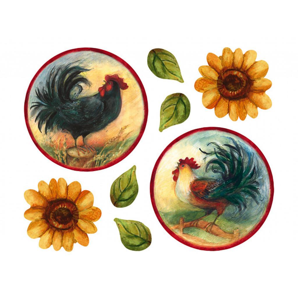 Wallies Wandsticker Hahn und Sonnenblumen