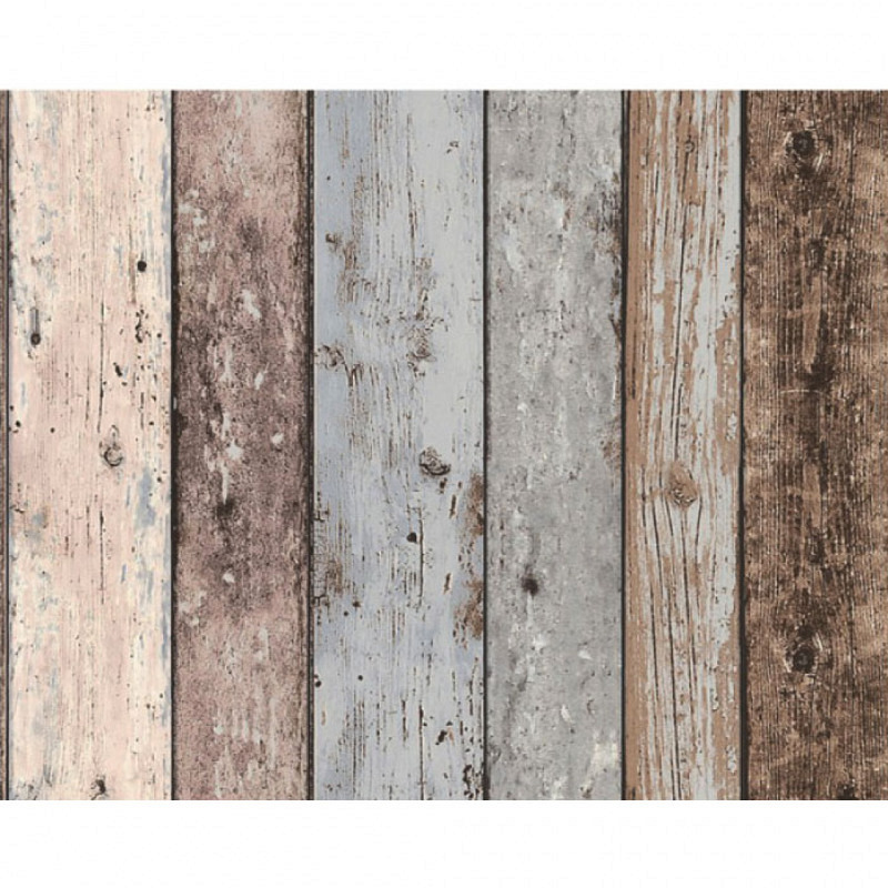 Vliestapete New England blau weiß Holz Effekt
