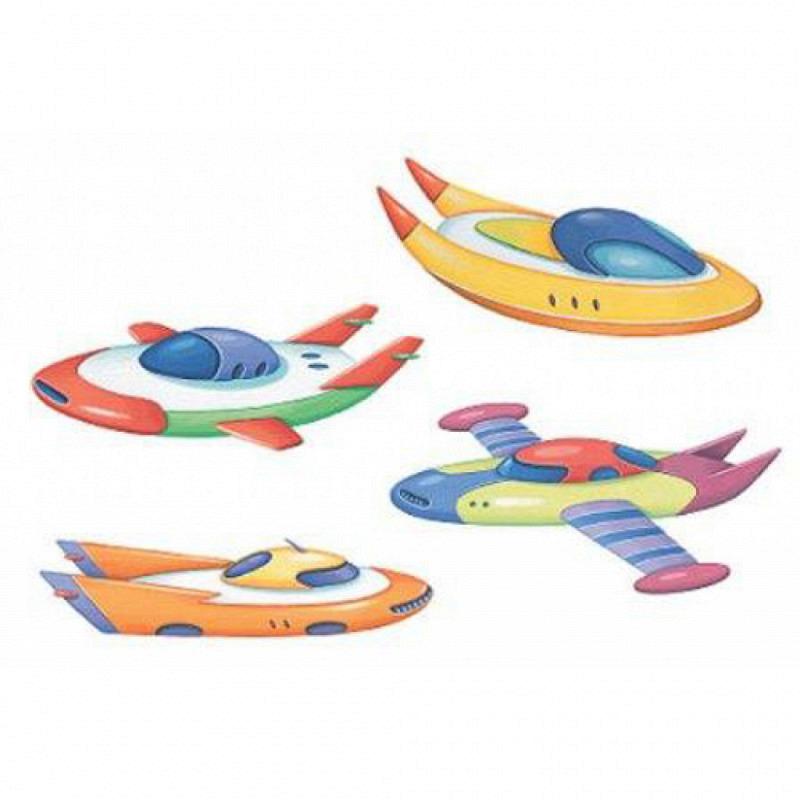 Wandsticker Wallies Flugzeuge Schiffe