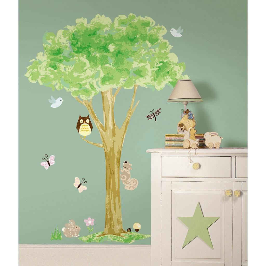 wandsticker wandtattoo baum v gel schmetterlinge eule ca 140 cm kinderzimmer ebay. Black Bedroom Furniture Sets. Home Design Ideas