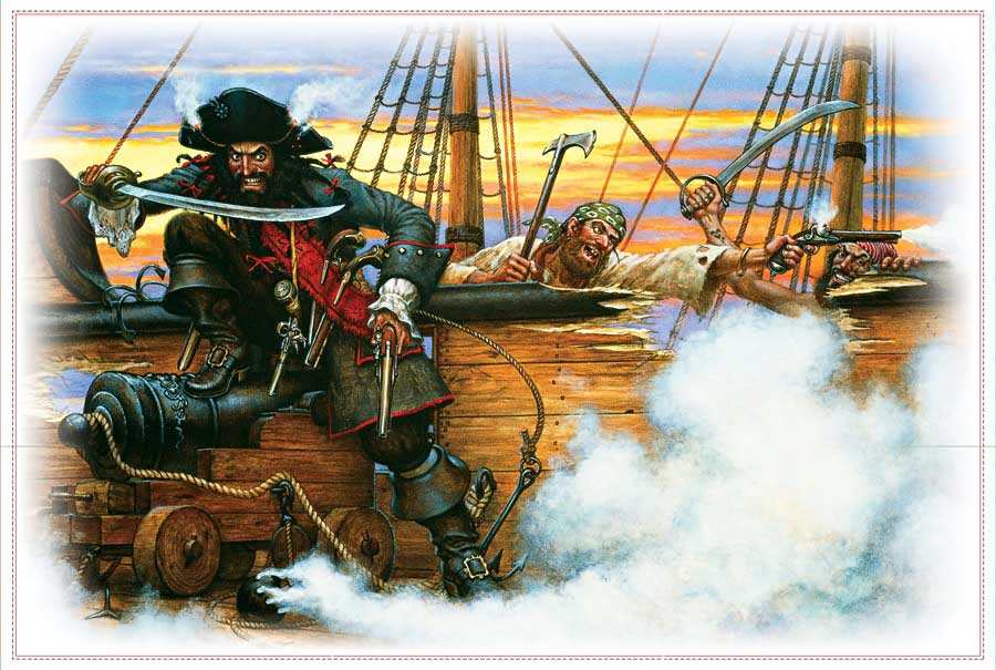 Pirat Namensbild Acrylbild
