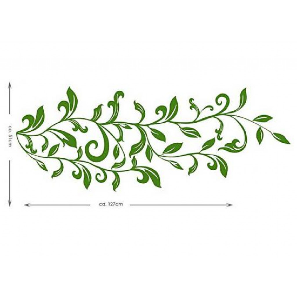 RoomMates Wandtattoo Wandsticker Leaf Scroll Laub Wohnzimmer