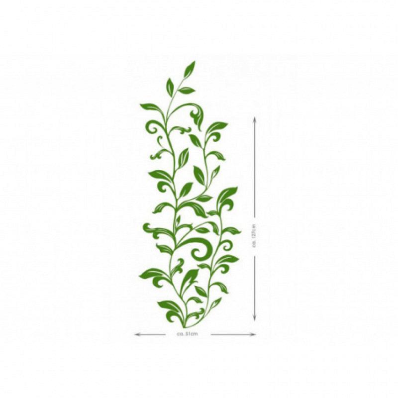 RoomMates Wandsticker Tattoo grüne Laub Ornamente