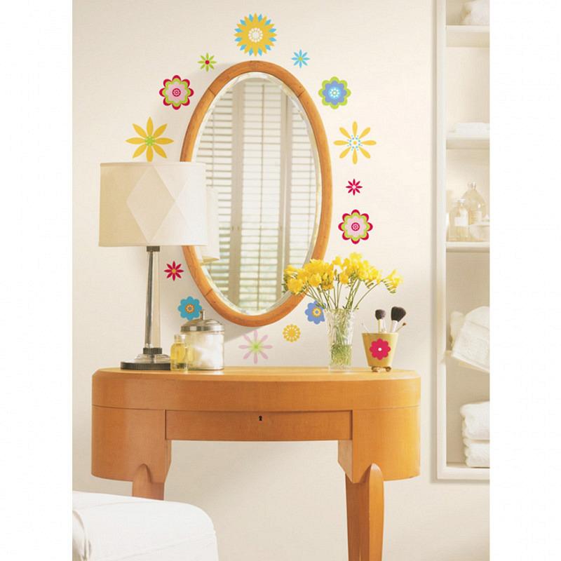 RoomMates Wandsticker Grafik Blüten