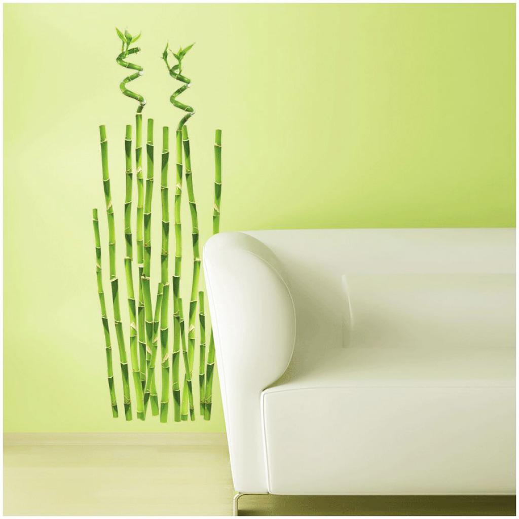 RoomMates Wandsticker Bambus Wohnzimmer