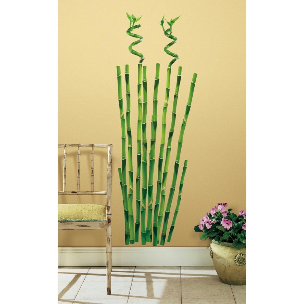 Gro er wandsticker bambus wandtattoo bamboo wandbild wanddeko baum pflanze ebay - Wandsticker bambus ...
