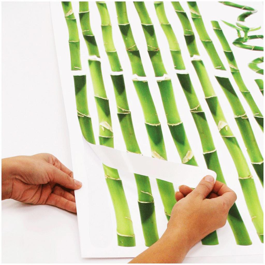 RoomMates Wandsticker Bambus Ablösbar und Wiederverwendbar