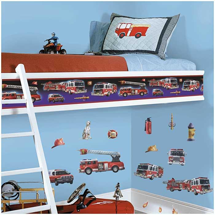Kinderzimmer Tapeten Feuerwehr : Bord?re Feuerwehr Autos Auto Tapeten Borte(3,94 ? /1m) eBay