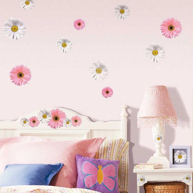 RoomMates Wandsticker Wandbild Gerbera Blume