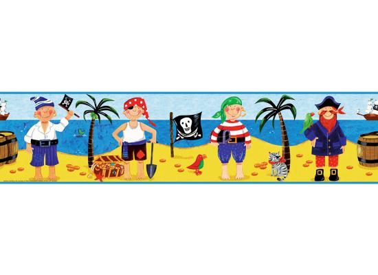 Piraten Tapete Kinderzimmer : Piraten Ahoi Totenkopf Flagge Palmen Deko Tapeten Borte Kinderzimmer