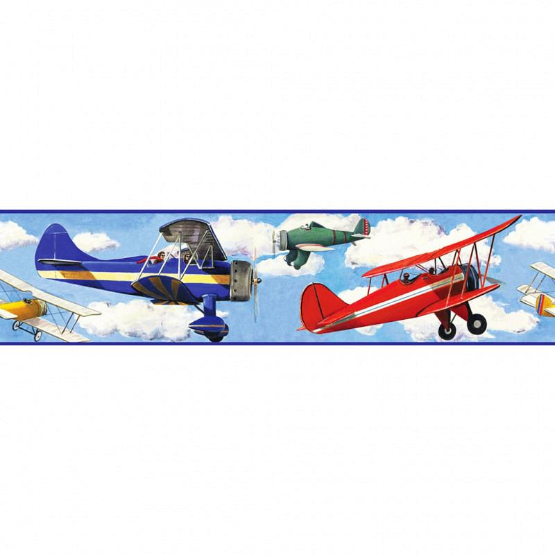 RoomMates Bordüre Flugzeuge in den Wolken