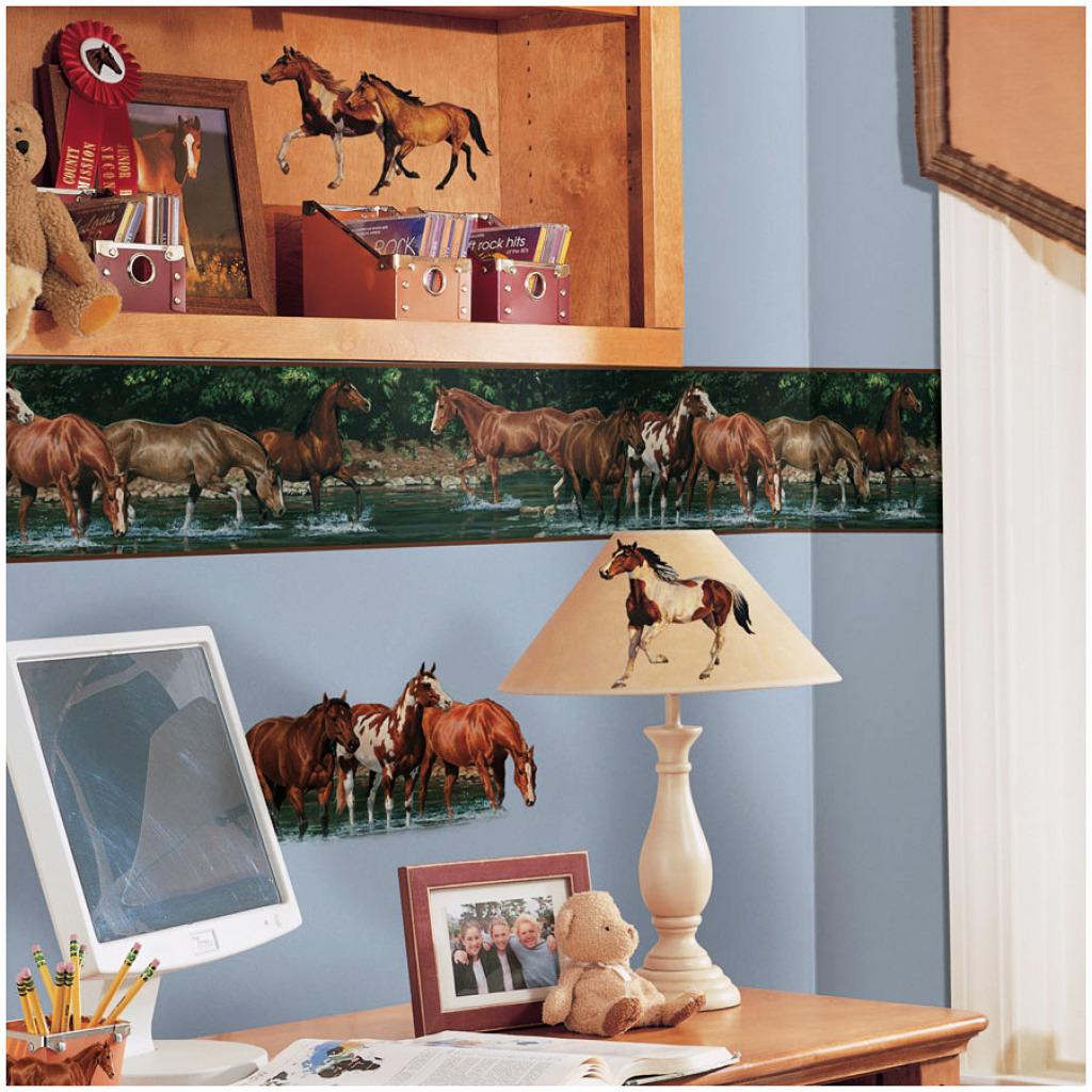 bord re pferde pferd wildpferde tapeten borte selbstklebend kinderzimmer abl sb ebay. Black Bedroom Furniture Sets. Home Design Ideas