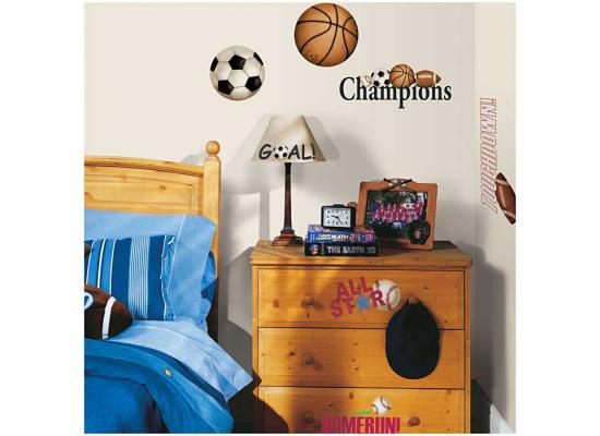 roommates wandtattoo wandsticker ball b lle fu ball wanddeko selbstklebend ebay. Black Bedroom Furniture Sets. Home Design Ideas