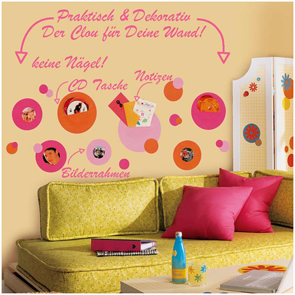 Roommates wandsticker wandtaschen fotohalter pink orange jugendzimmer ebay - Wandsticker jugendzimmer ...